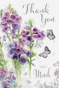Thank You Very Much with Butterflies Card